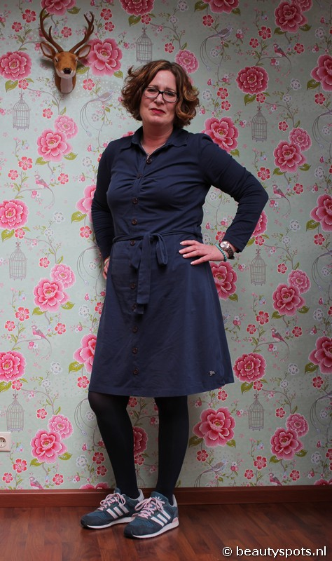 Tante Betsy Button Down Dress LS Blue