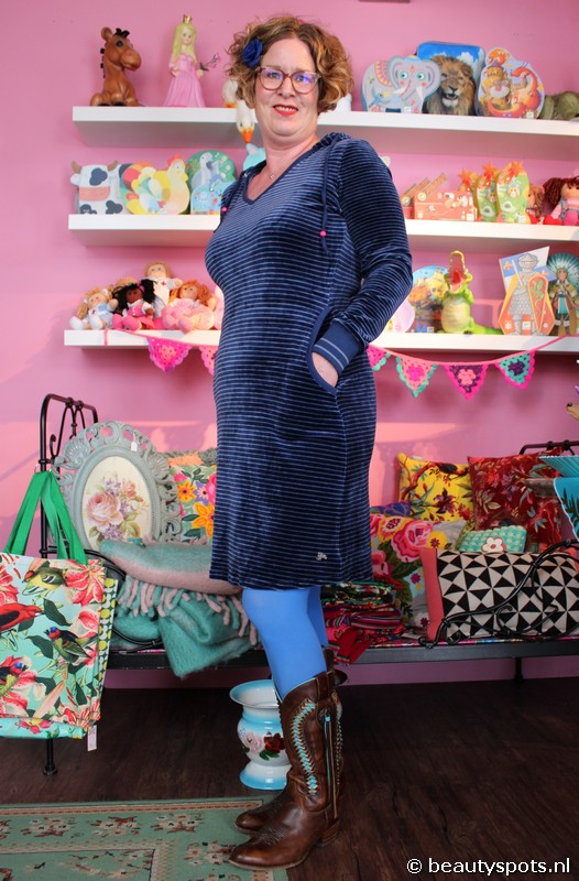 Tante Betsy Dress Skippy Stripe Nicky Velours