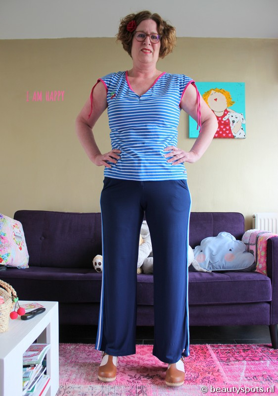 Tante Betsy Baggy Trousers Stripe Navy