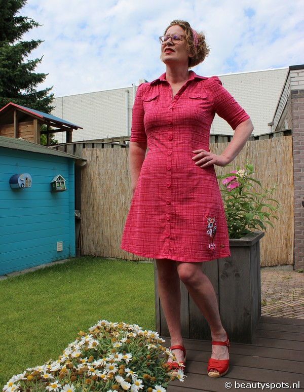 Dress Betsy Hatch Red