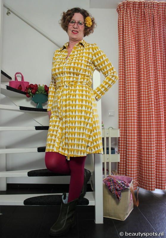 Tante Betsy Button Down Dress Winter Peaks
