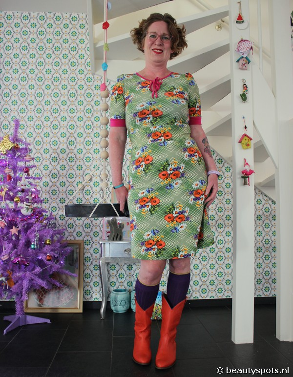 Tante Betsy Dress Keyhole Poppy
